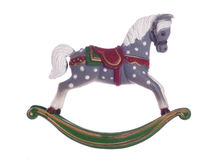 Vintage rocking horse christmas decoration Royalty Free Stock Image