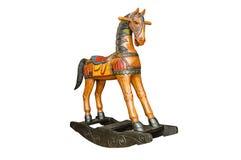 Vintage rocking horse isolated Stock Photography