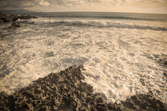 Vintage rocky shore Royalty Free Stock Photo