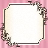 Vintage rococo frame in pink stock illustration