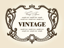 Vintage rococo retro frame ornament Royalty Free Stock Photo