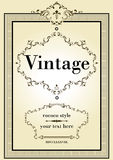 Vintage and rococo style Stock Images