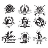 Vintage Rodeo Black Labels Stock Image