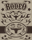 Vintage Rodeo poster Royalty Free Stock Photography