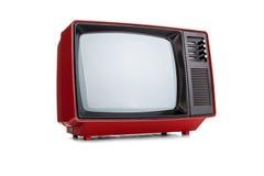 Vintage rojo TV Imagen de archivo libre de regalías