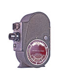Vintage roll film movie camera. A vintage roll film movie camera isolated on white Royalty Free Stock Images