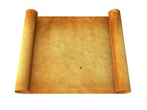 Vintage roll of parchment background Stock Photos