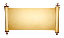 Vintage roll of parchment Stock Image