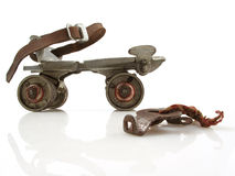 Vintage Roller Skate with Key Royalty Free Stock Photo