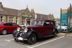 Vintage Rolls Royce car Carnforth station car park Royalty Free Stock Photos
