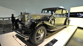 Vintage Rolls-Royce Phantom III on display at BMW Museum Royalty Free Stock Photography