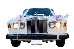 Vintage Rolls Royce wedding car . Royalty Free Stock Image