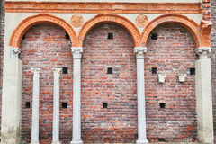 Vintage roman wall Stock Photos