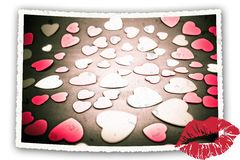 Vintage romance card. Royalty Free Stock Photography