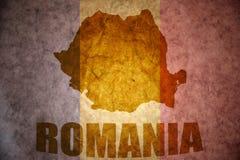 Vintage romania map stock photos