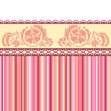 Vintage romantic background. Pink colors. Stock Images