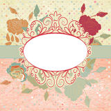 Vintage romantic background with roses. EPS 8 Stock Photo