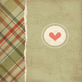 Vintage romantic card Stock Photography