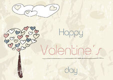 Vintage romantic card. Vector illustration EPS8 Stock Photography