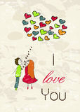 Vintage romantic card. Vector illustration EPS8 Royalty Free Stock Images
