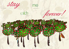 Vintage romantic card. Vector illustration EPS10 Royalty Free Stock Images