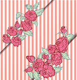 Vintage romantic card rose Royalty Free Stock Photography