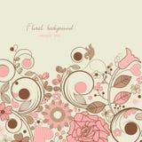 Vintage romantic floral background Stock Images