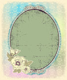 Vintage romantic frame for design.Retro color illu Royalty Free Stock Photos