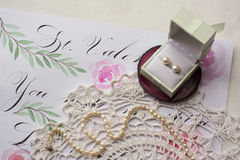Vintage and romantic. Mood, women`s accessories Royalty Free Stock Image