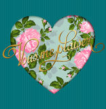 Vintage romantic rose background. Template greeting card or invitation. Love. Vector Royalty Free Stock Image