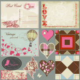 Vintage romantic set Stock Images