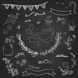 Vintage romantic set in vector. Stylish romantic elements for pa Royalty Free Stock Images