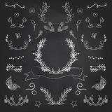 Vintage romantic set in vector. Stylish romantic elements for pa Royalty Free Stock Photography