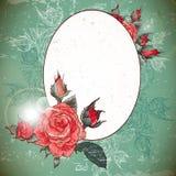 Vintage romantique Rose Frame Image libre de droits