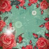 Vintage romantique Rose Frame Image stock