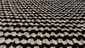 Vintage roof tiling Stock Photo