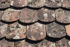 Vintage roof tiling Royalty Free Stock Photos