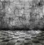 Vintage room. Vintage cracked silver room, see grunge collection Stock Image