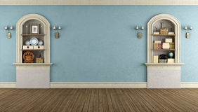 Vintage room with arched niche Royalty Free Stock Image