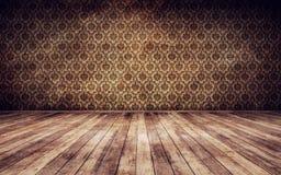 Vintage room background. Grunge vintage interior background 3d render