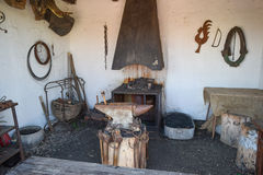 Vintage Room blacksmith forging metal Stock Image