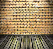 Vintage room with brick walls Stock Photo