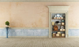 Vintage Room with classic stone portal Royalty Free Stock Photo