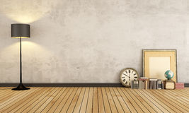 Vintage room without furniture Stock Photo