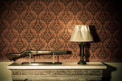 Vintage room interior toned image Stock Images