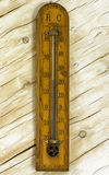 Vintage room thermometer on the background Stock Photos