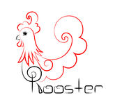 Vintage rooster logo Royalty Free Stock Photo