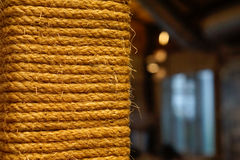 Vintage rope closeup with copy space background. Shallow depth o Stock Photo