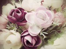 Vintage rose of artificial flowers Royalty Free Stock Photos