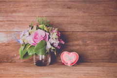 Vintage rose bouquet Royalty Free Stock Photos
